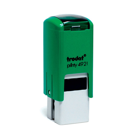The Trodat Printy 4921, in a beautiful shade of green. This model has a wide variety of imprints available. Suited to classrooms and any educational environment where feedback is given. Available at Novel Idea Online. Free Shipping on all Orders.
