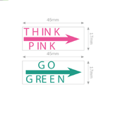 "An imprint of the the Trodat, ""Think Pink"" ""Go Green"" motivational stamper set. Perfect for teachers and educational staff using this method of providing feedback. Available at Novel Idea Online, Free Shipping on all orders."