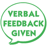 Verbal Feedback Given – Colop School Stamper. Available at Novel Idea Online. Free UK Shipping.