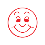 This Red Smiley Face can be used in many different educational environments to let students know the work they're producing is of great quality. A brilliant motivational stamp available at Novel Idea Online. Free UK Shipping.