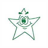 This Teacher Stamper features a green smiling star. Perfect for helping to encourage a motivate your students. Available at Novel Idea Online. Free UK Shipping.