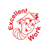 "Teacher Marking Stampers are a fun way of encouraging positive work patterns in your students. This one features a red word and imprints the wording ""Excellent Work."" Available at Novel Idea Online. Free UK Shipping."