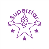 "Al students are Super Stars and now you can reward them with this fantastic teacher marking stamper. It Imprints a smiling star in violet alongside the wording ""Superstar."" Available at Novel Idea Online. Free UK Shipping."