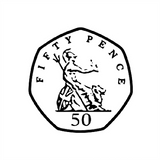 This Fifty Pence Piece Stamp is a brilliant way to engage your classroom and help your students understand currency. Available at Novel Idea Online. Free UK Shipping.