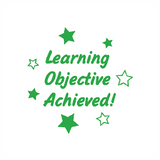 "This Teacher Marking Reward Stamp Features Star Imprints alongside the message ""Learning Objective Achieved!"" The Stamp prints in Green and is a perfect way to motivate students in your class. Available at Novel Idea Online. Free UK Shipping."