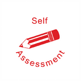 This Teacher Reward Marking Stamp print the words Self Assessment in Red Alongside a red pencil. A great way to motivate and reward students in your classroom. Free UK Shipping. Available at Novel Idea Online.