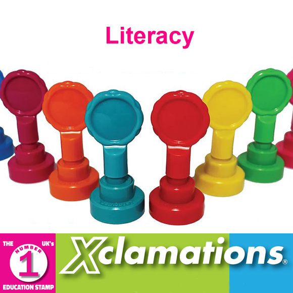 Novel Idea Online stock a broad selection of Xclamation's Literacy Stamps. Fantastic for motivation in the classroom. Available at Novel Idea Online. Free UK Shipping.
