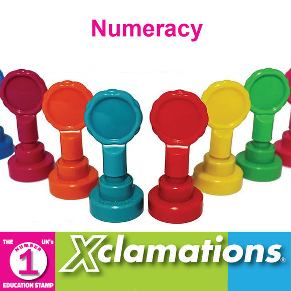Novel Idea Online stock a broad selection of Xclamation's Numeracy Stamps. Fantastic for motivation in the classroom. Available at Novel Idea Online. Free UK Shipping.