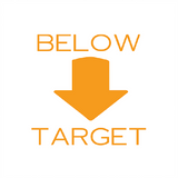 "This Reward Teacher Motivational Marking Stamper prints the wording ""Below Target"" alongside and image of a downward facing arrow also in orange. This stamp is brilliant for helping teachers let students understand their feedback. Available at Novel Idea Online. Free UK Shipping."