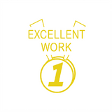 "This Teacher Reward Marking Stamp imprint the image of a medal in a gold or yellow colour alongside the text ""Excellent Work."" Available at Novel Idea Online. Free UK Shipping. This Reward and Motivational stamp can help your students improve their grades."