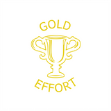 "This gold trophy is a teacher reward marking stamper imprint. It also prints the text: ""Good Effort"" and is a fantastic way to motivate and inspire your students to work hard and improve their grades. Available at Novel Idea Online. Free UK Shipping."