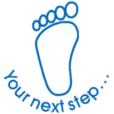 Your Next Step (with foot) – Colop School Stamper. Available at Novel Idea Online. Free UK Shipping.