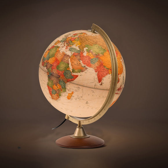 Nova Rico, Illuminated Colombo Relief Globe (30cm)