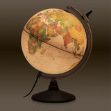 Nova Rico, Illuminated Marco Polo Globe with Magnifying Glass (30cm)