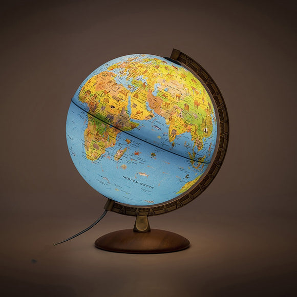 Nova Rico, Illuminated Safari Plus Globe with Illustrated Information Book (30cm)