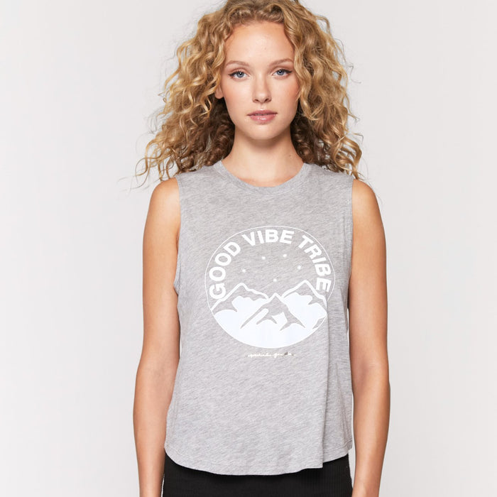 "Tee Shirt yoga ""Good Vibes Tribes"""