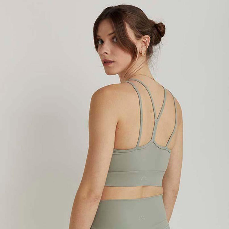 Frances bralette - almond green