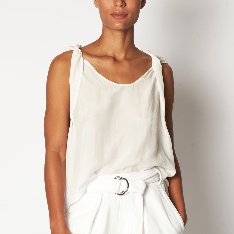 Cupro Twist tank top - Off white
