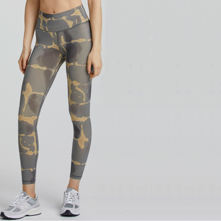 Luna Tie and Dye Leggings - Golden