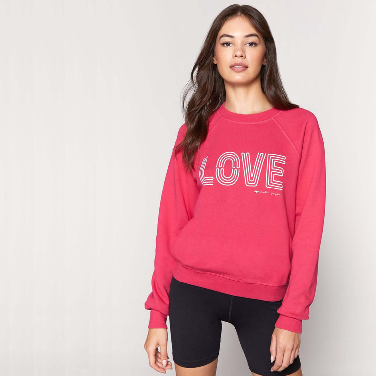 Sweat - LOVE - Rouge/Fuchsia