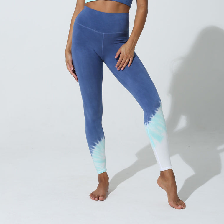 Sunset Echo Leggings - Denin Turquoise