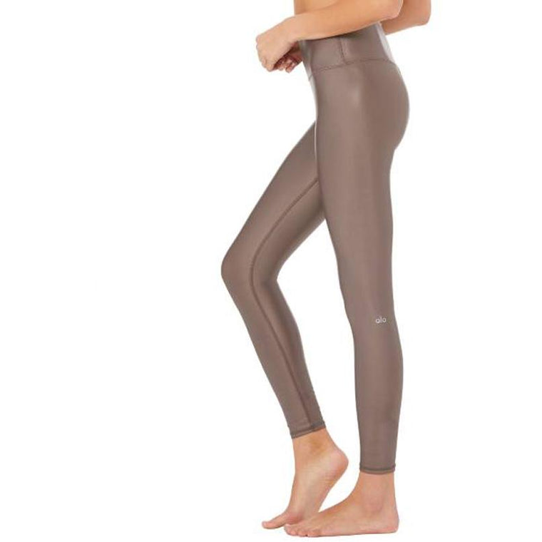 Airbrush Shine Leggings - Taupe