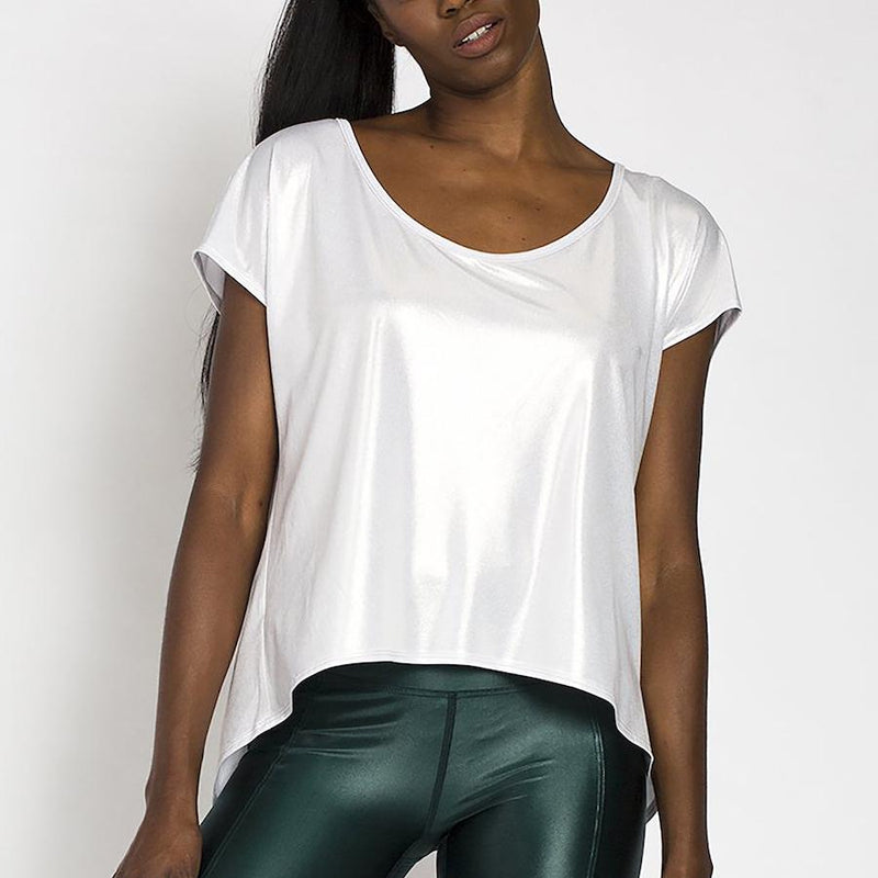 Tie Back T-Shirt - Pearl