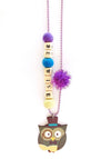 """Be Wise"" Owl Push-Pop Necklace"