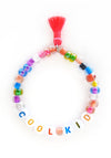 """Cool Kid"" Words of Wisdom Stretch Bracelet"