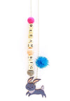 """Dream Big"" Bunny Push-Pop Necklace"