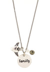 """Family"" Pyrite Charm Necklace"