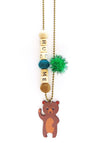 """Hug Me"" Bear Push-Pop Necklace"