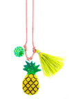Pineapple Resin Necklace + Bookmark