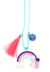 Rainbow + Star Clay Necklace + Bookmark