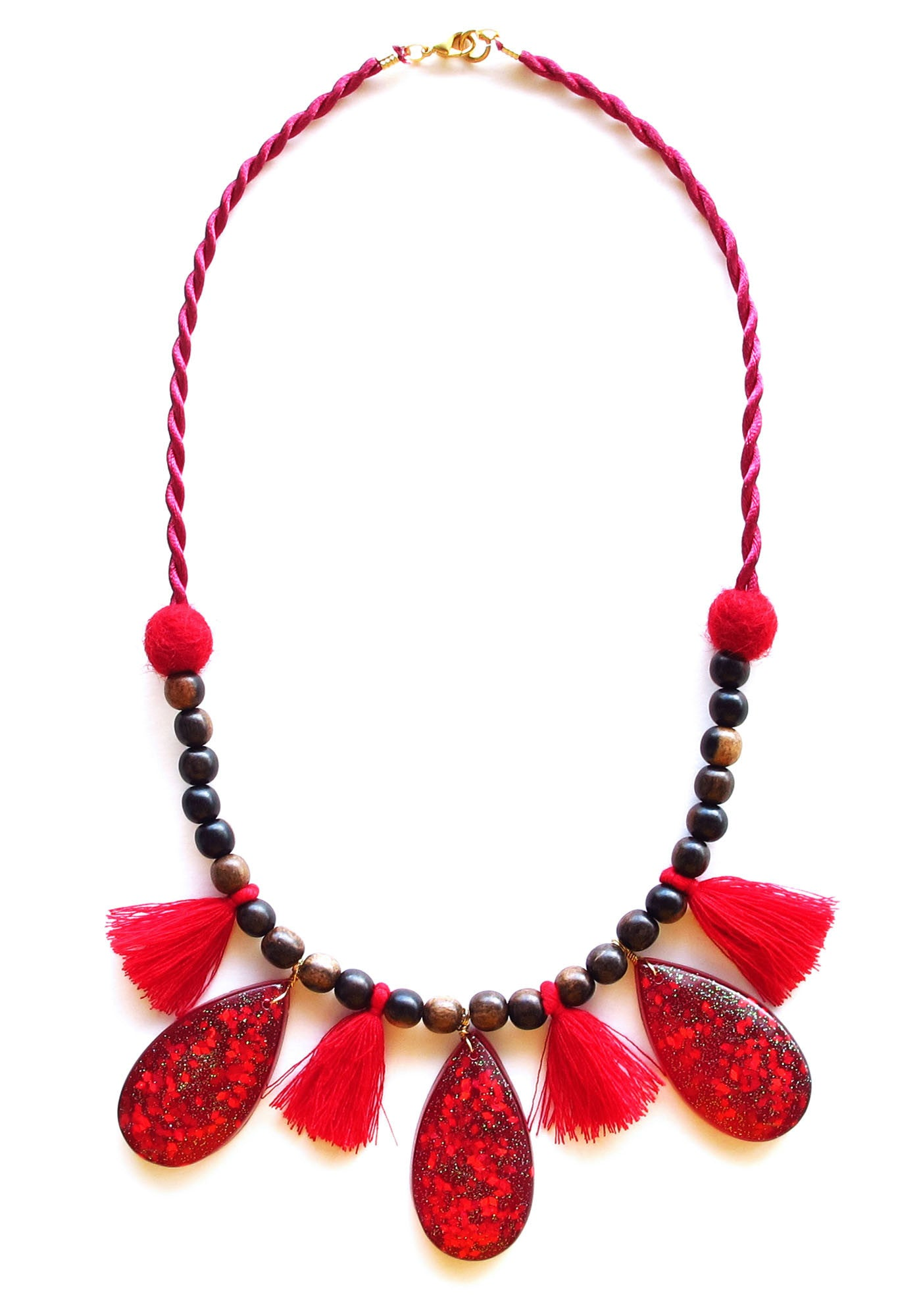 crimson king jewellery red multi necklace anna strand burgundy