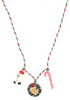 Holiday Wreath Stocking Stuffer Necklace