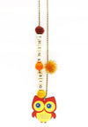 """Thing Big"" Owl Push-Pop Necklace"