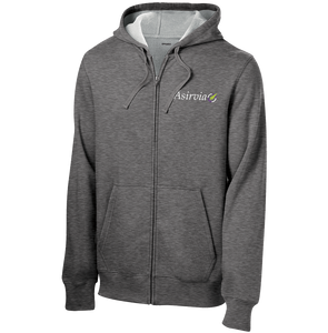 Men's Zip Up Fleece Hoodie - Grey