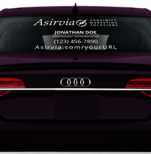 Asirvia Front and Rear Window Decal Set with Personalization