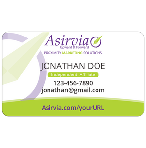 Business Card - Independent Affiliates - Green (Centered layout)