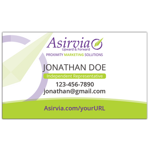 Business Card - Independent Representative - Green (Centered layout)