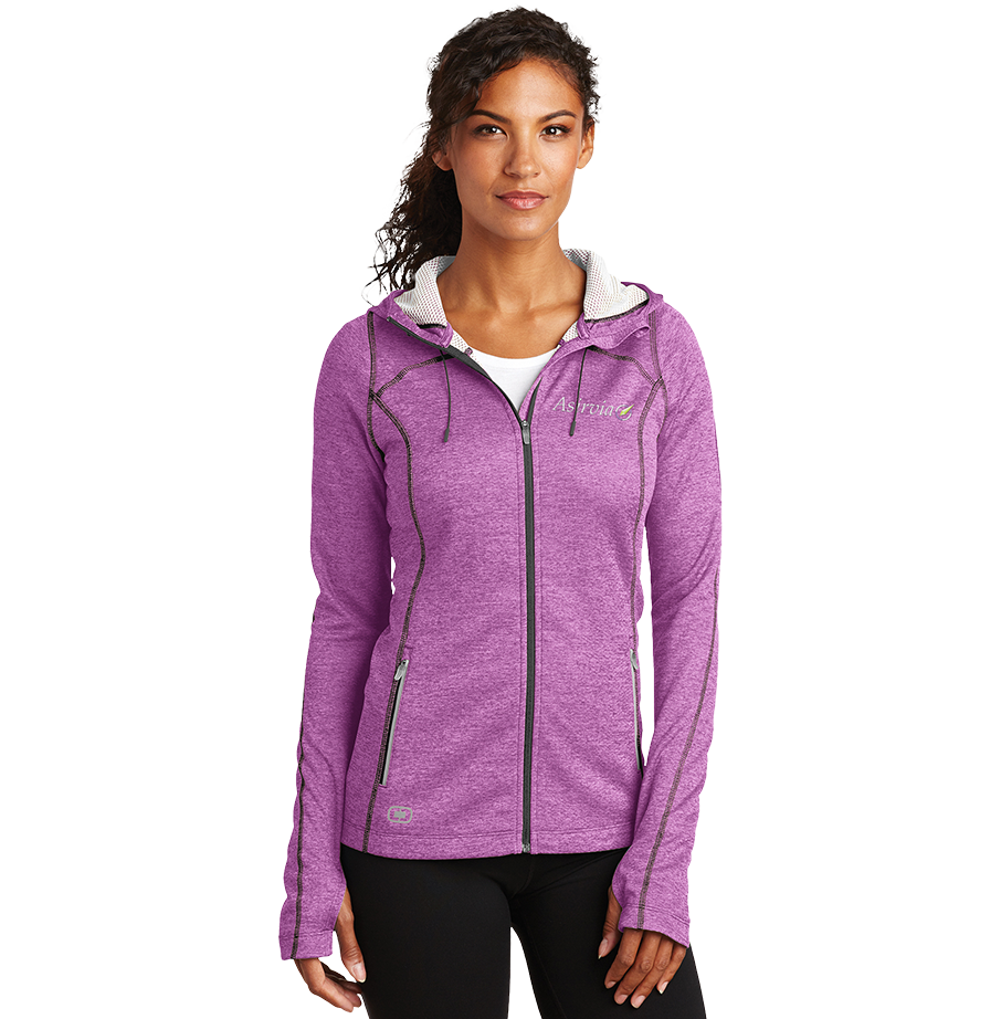 Women's Zip Up Sport Jacket - Purple