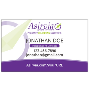 Business Card - Independent Affiliates - Purple (Centered layout)