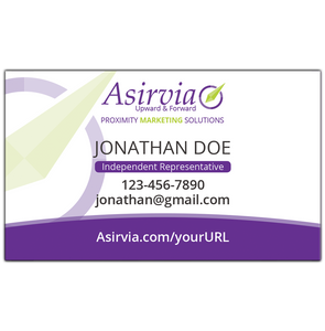 Business Card - Independent Representative - Purple (Centered layout)