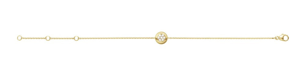 Aurora Bracelet - 18 Kt. Yellow Gold With Brilliant Cut Diamonds