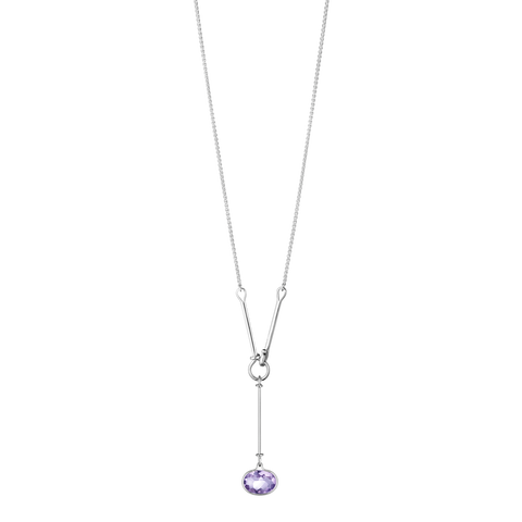 Savannah Pendant - Sterling Silver With Amethyst, 90 cm