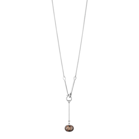 Savannah Pendant - Sterling Silver With Smokey Quartz, 90 cm
