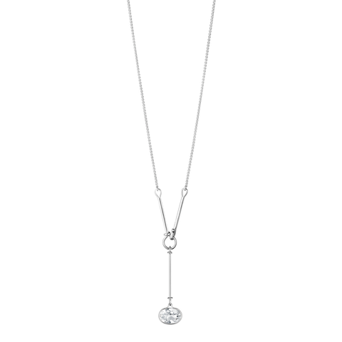 Savannah Pendant - Sterling Silver With Rock Crystal, 90 Cm