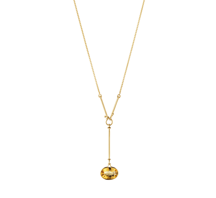 Savannah Pendant - 18 Kt. Yellow Gold With Citrine, 45 cm