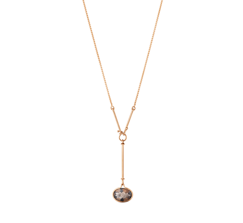 Savannah Pendant - 18 Kt. Rose Gold With Smokey Quartz, 45 cm